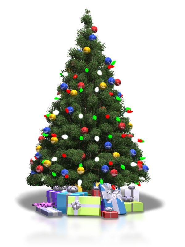 Clipart - Christmas Tree Shiny Lights