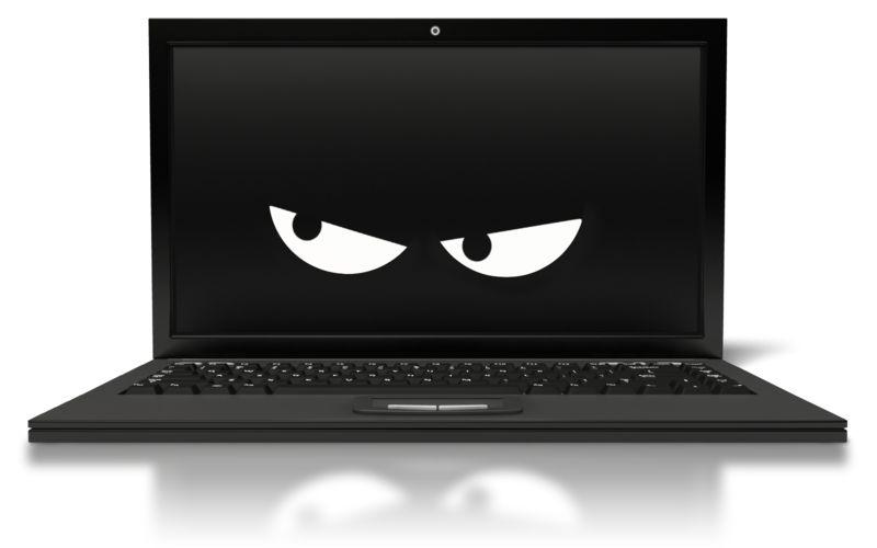 Clipart - Black Laptop Spy Watch