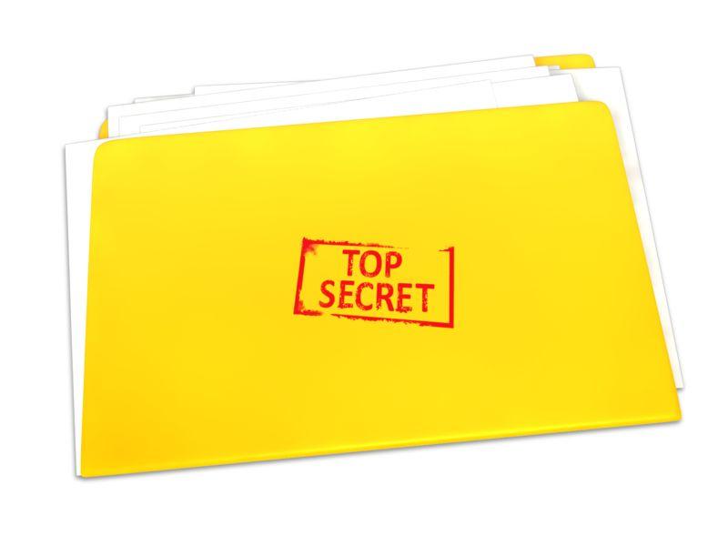 Clipart - Top Secret Folder Documents