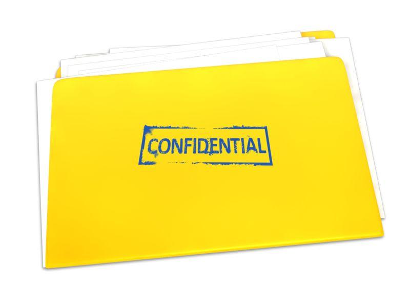 Clipart - Confidential Folder Documents