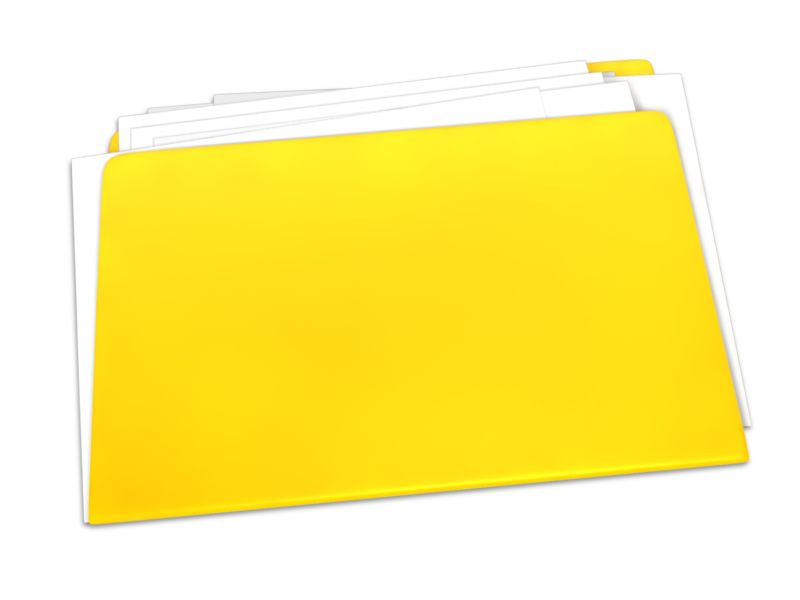 Clipart - Blank Yellow Folder Documents