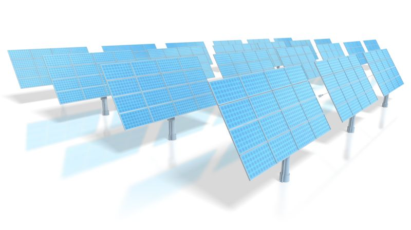 Clipart - Solar Energy Power Panels