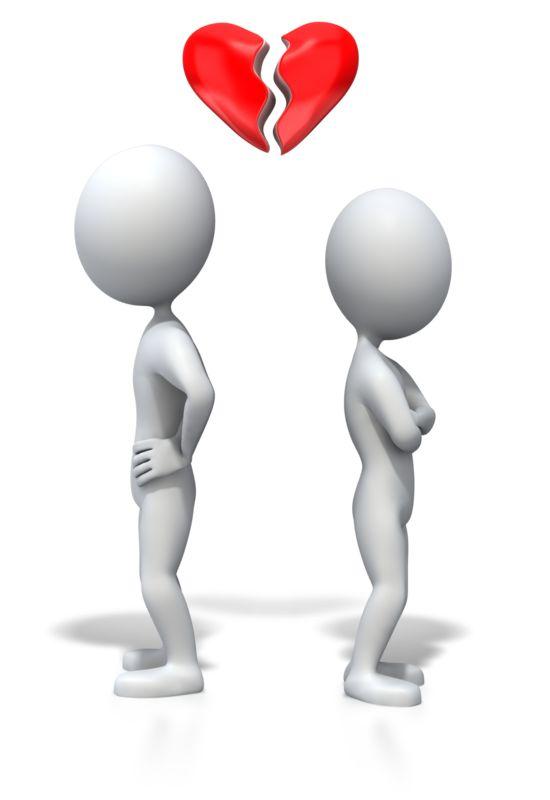 Clipart - Stick Figure Heartbreak
