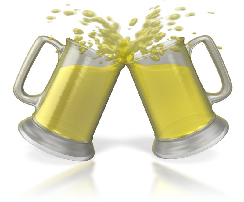 Clipart - Beer Cheers Toast