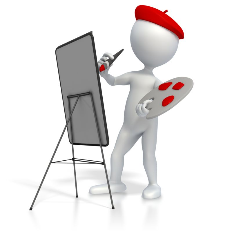 Clipart - Artist Painting