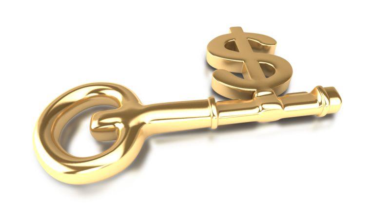 Clipart - Dollar Key