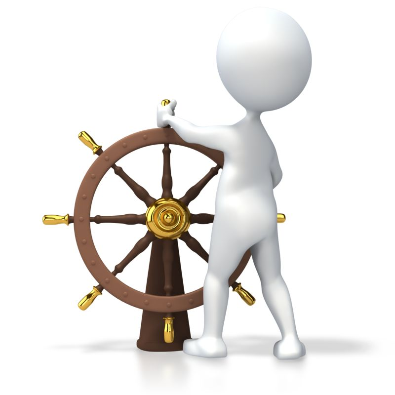 Clipart - Leader At Helm