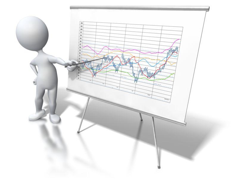 Clipart - Stick Figure Chart Data Trend