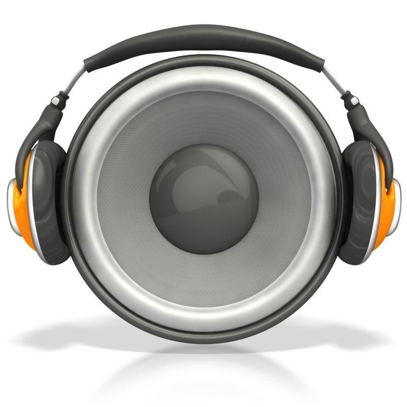 Clipart - Speaker Wearing Headphones