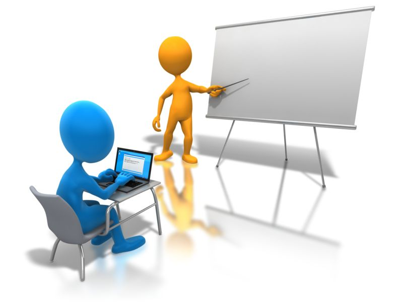 Clipart - Online Classroom Learning