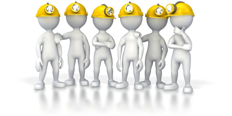 Clipart - Group Of Miners