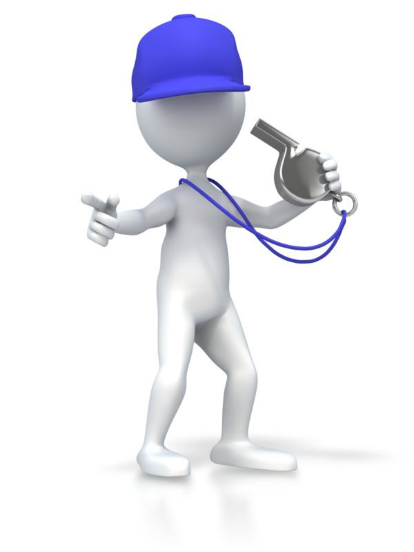 Clipart - Coach With Whistle