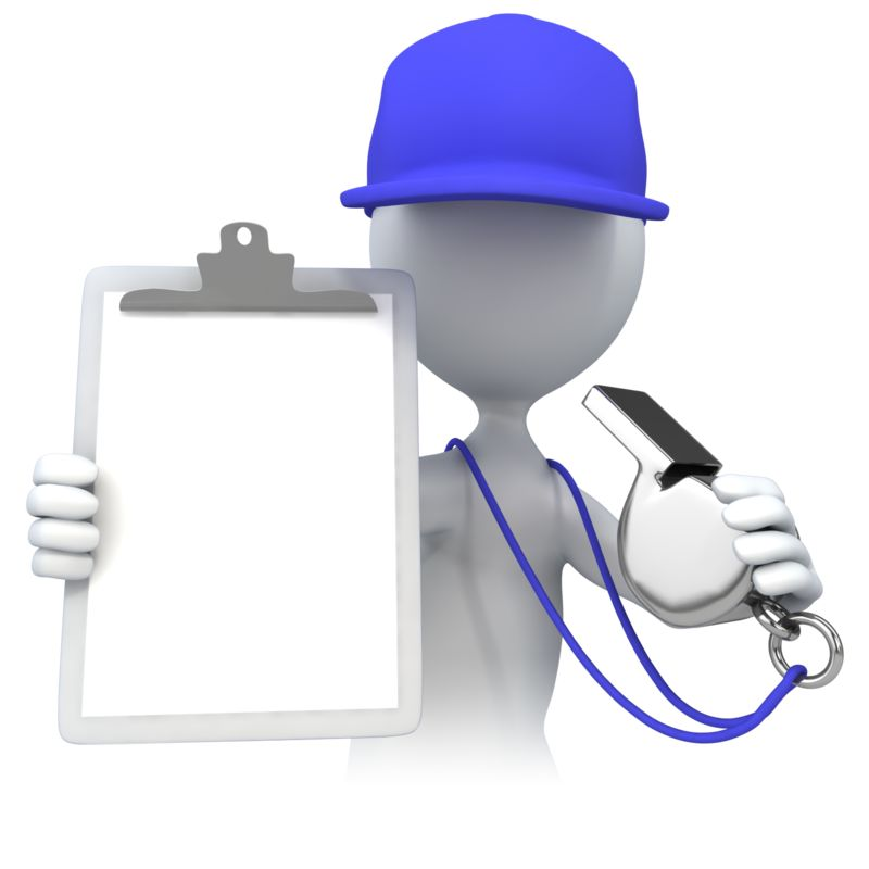 Clipart - Coach With Clipboard