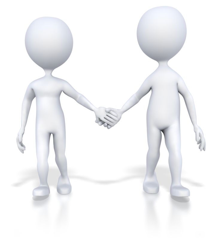 Clipart - Couple Holding Hands Walking