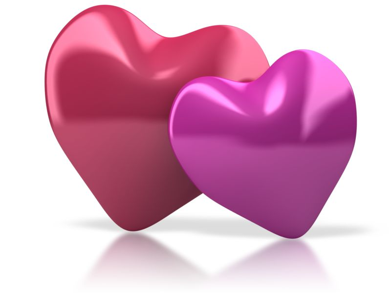 Clipart - Pair Of Hearts