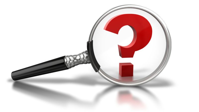 Clipart - Magnify Question Mark