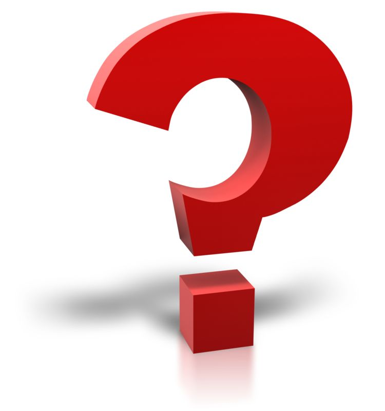 Clipart - Single Red Question Mark