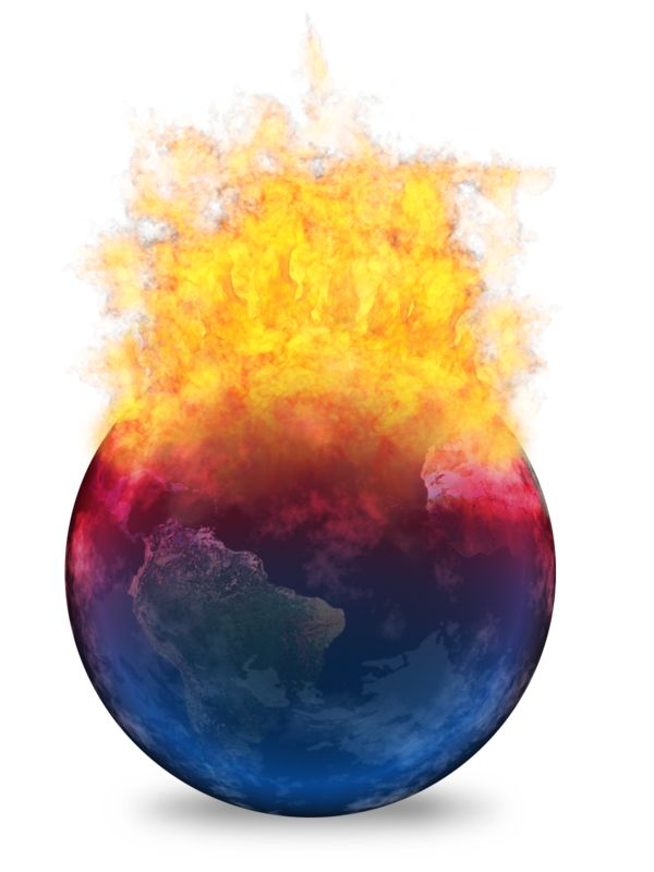Clipart - Global Warming Heating Up Earth