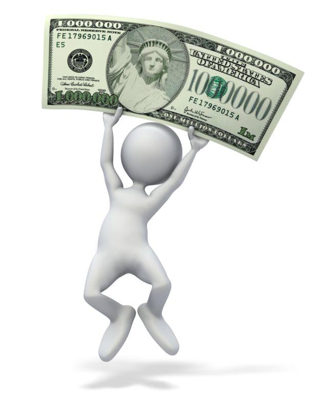 Clipart - Happy Money Million Dollars