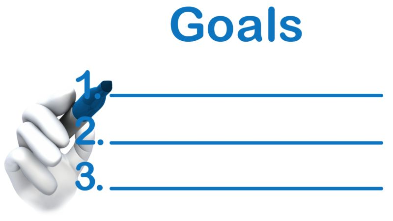 Clipart - Write Your Goals Here