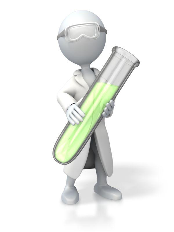 Clipart - Scientist Test Tube