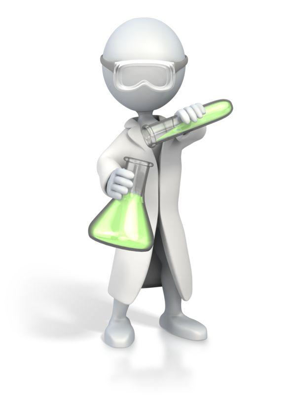 Clipart - Scientist Pour Test Tube