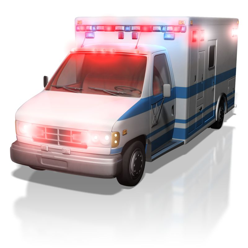 Clipart - Ambulance With Lights On