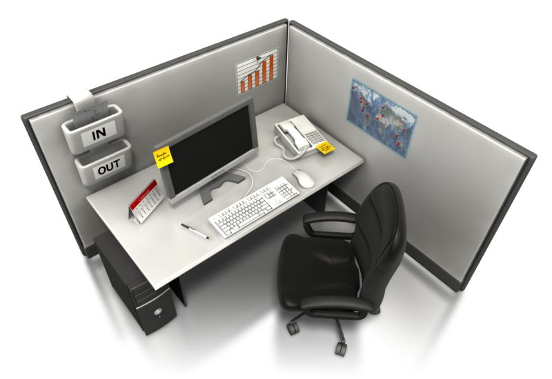 Clipart - Empty Office Cubicle