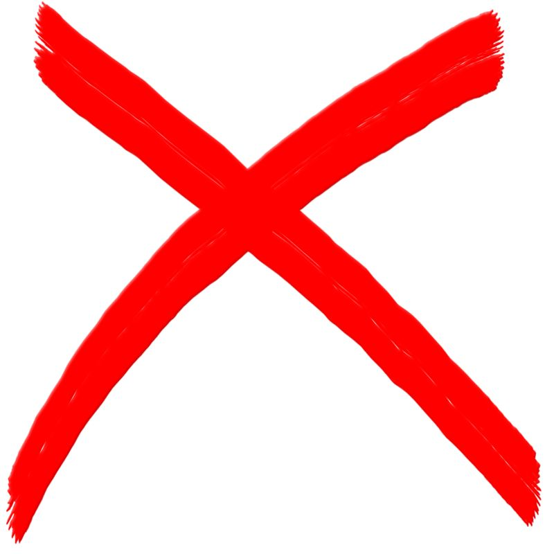 Clipart - X Mark Painted Symbol