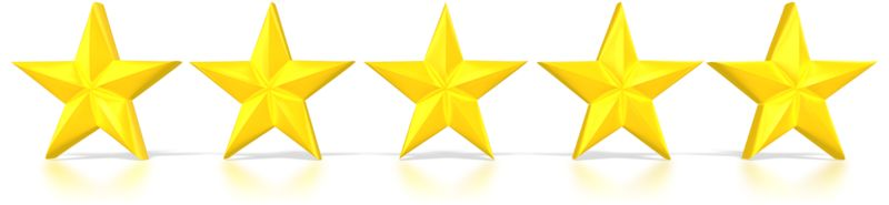 Clipart - Five Stars