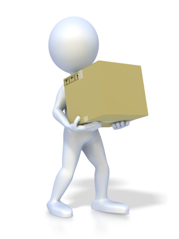 Clipart - Stick Figure Carrying Box