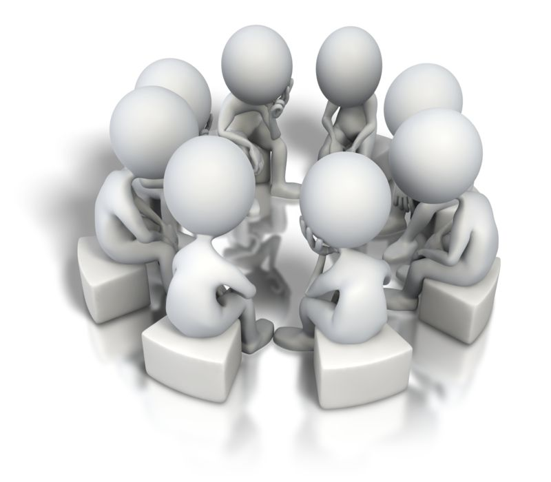 Clipart - Corporate Circle Think Tank