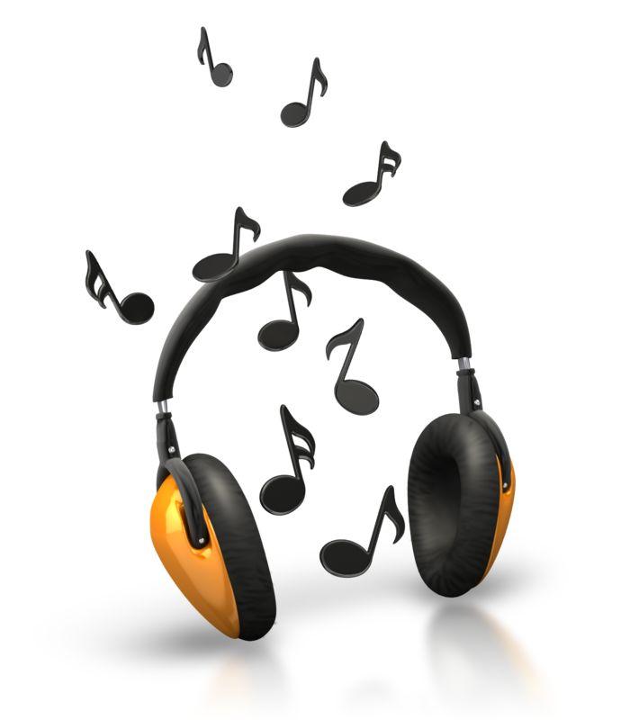 Clipart - Music Notes Headphones
