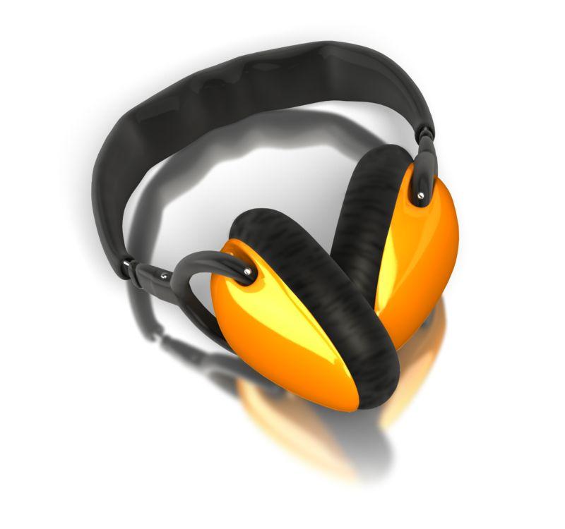 Clipart - Single Pair Audio Headphones