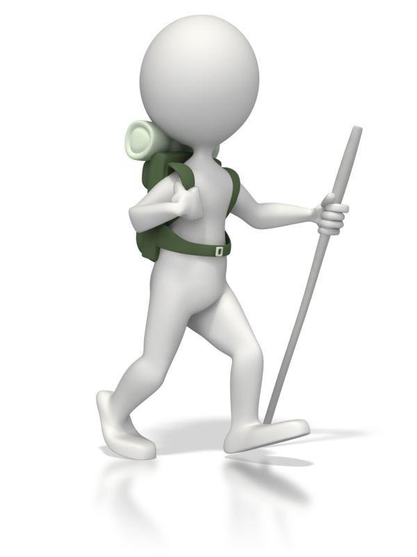 Clipart - Backpacker Figure