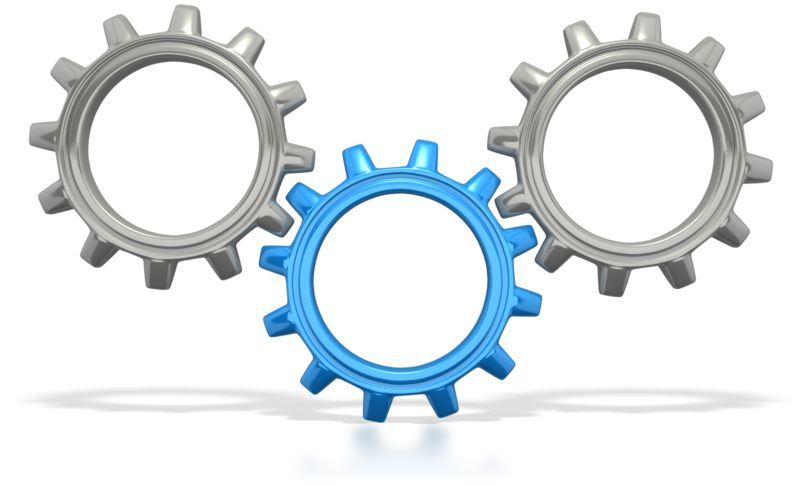 Clipart - Three Gears Connected