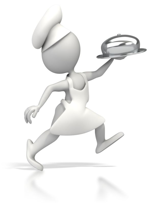 Clipart - Chef Running Delivery