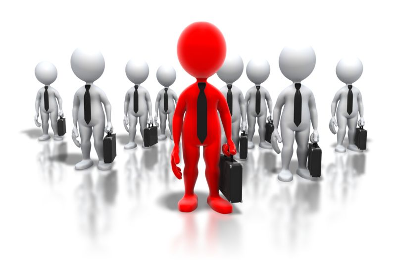 Clipart - Business Professionals Leader