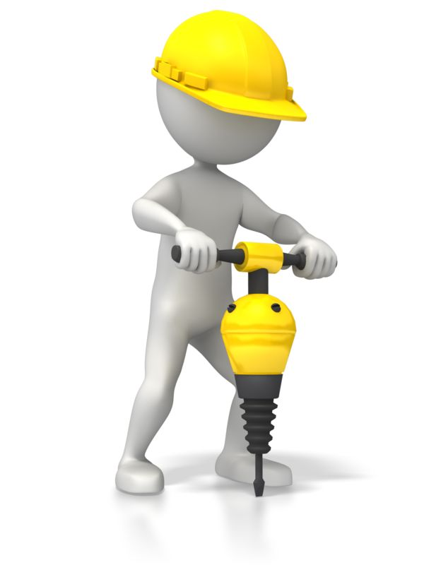 Clipart - Construction Jackhammer