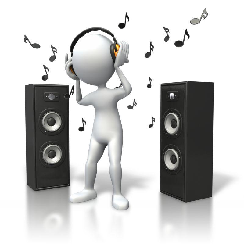 Clipart - Music Vibe Headphones Speakers