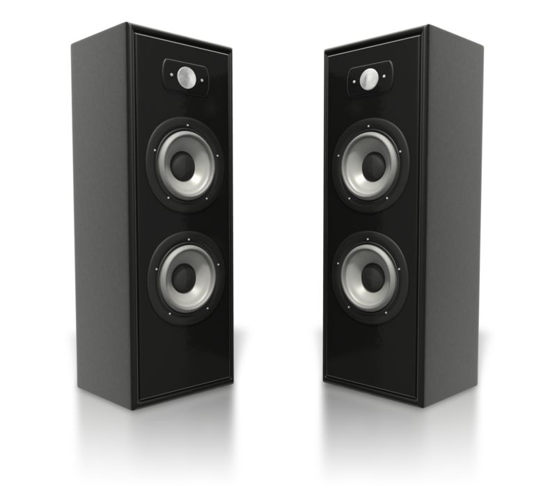 Clipart - Large Speaker Towers