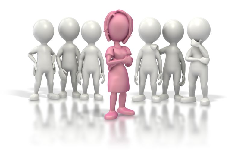 Clipart - Woman Leader