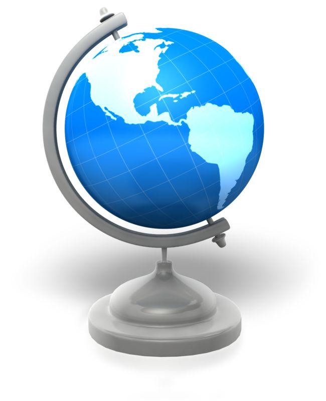 Clipart - World Globe Stand