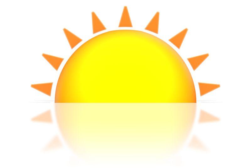 Clipart - Sunset or Sunrise