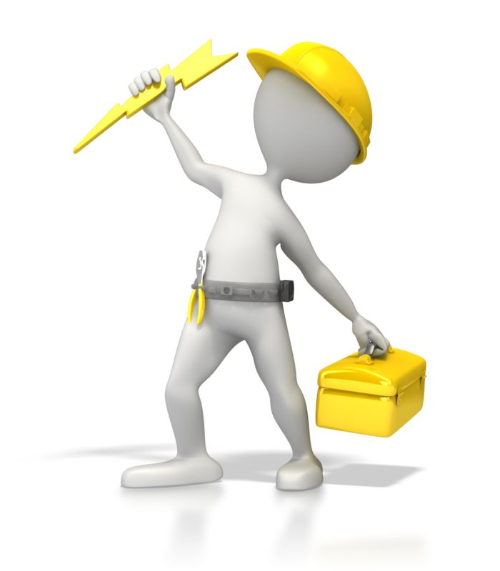 Clipart - Electrician Power