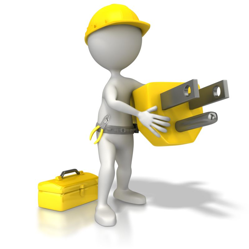 Clipart - Electrician With Plug