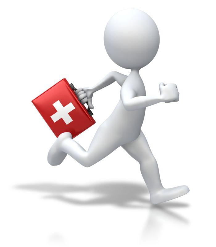 Clipart - Stick Figure Running First Aid
