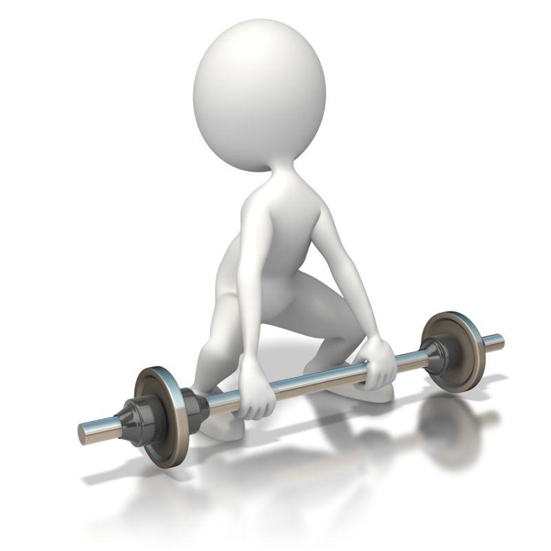 Clipart - Weak Weightlifter
