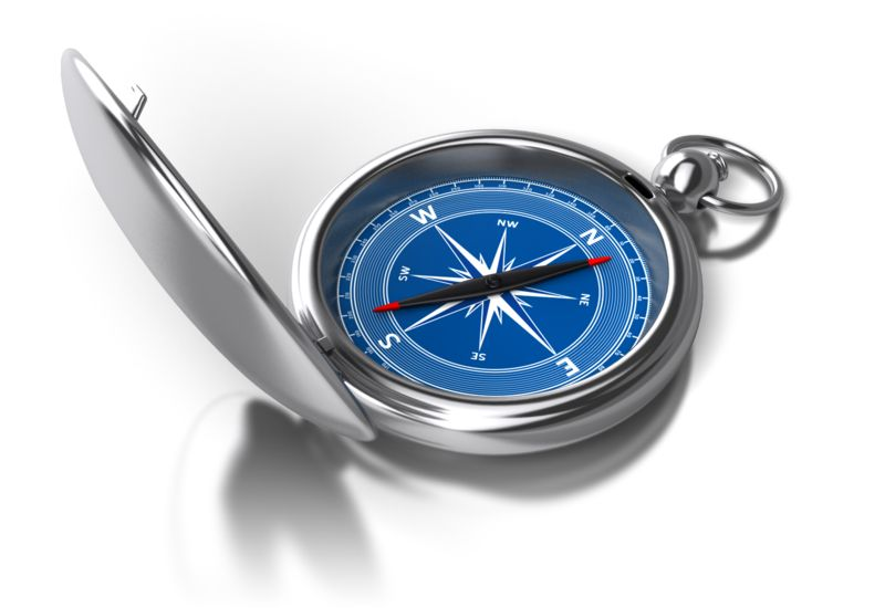 Clipart - Opened Compass Point