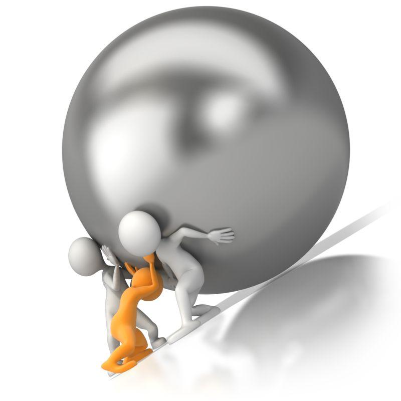 Clipart - Team Push Burden
